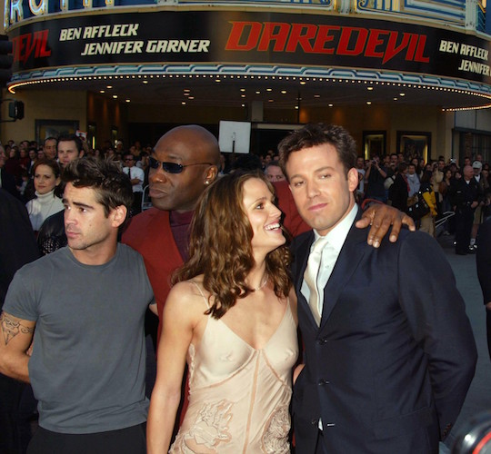 "www.splashnews.com Ref: RE 090203 Picture Russ Einhorn/Splash News/ Ben Affleck, Jennier Garner, Michael Clarke Duncan, and Colin Farrell at The ""Daredevil"" Premiere, Mann Village Theater, Westwood, California. Splash News Tel: LA: 310-8212666 NY: 212-619-2666 photodesk@splashnews.com"