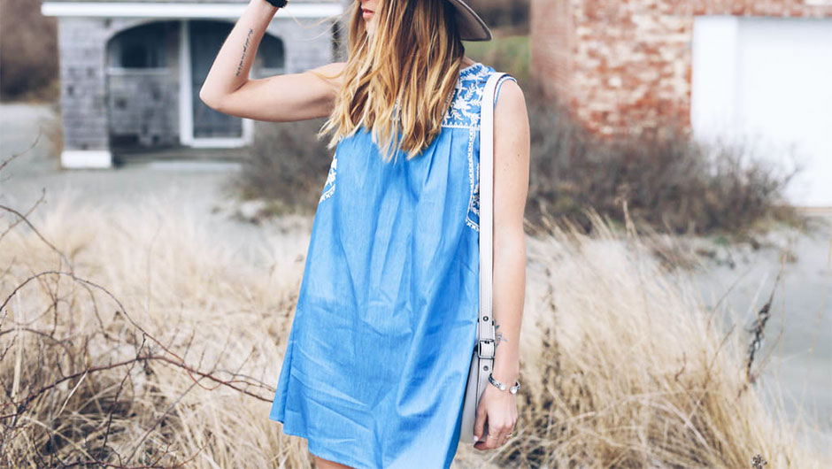 Denim Dresses Are The Best One-And-Done Outfits For Summer