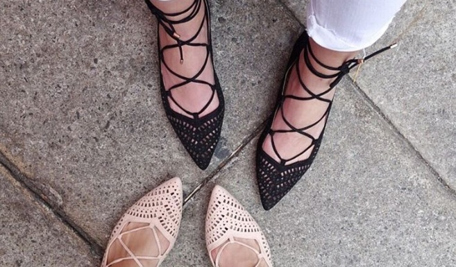 These $48 Lace-Up Flats Are Blowing Up On Instagram