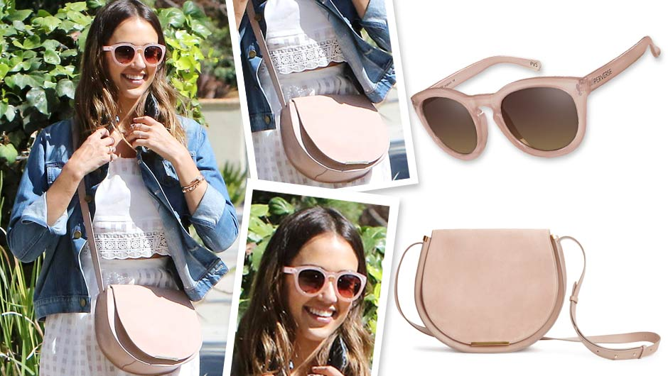 Believe It! Jessica Alba's Pretty Pink Sunglasses Are Only $40