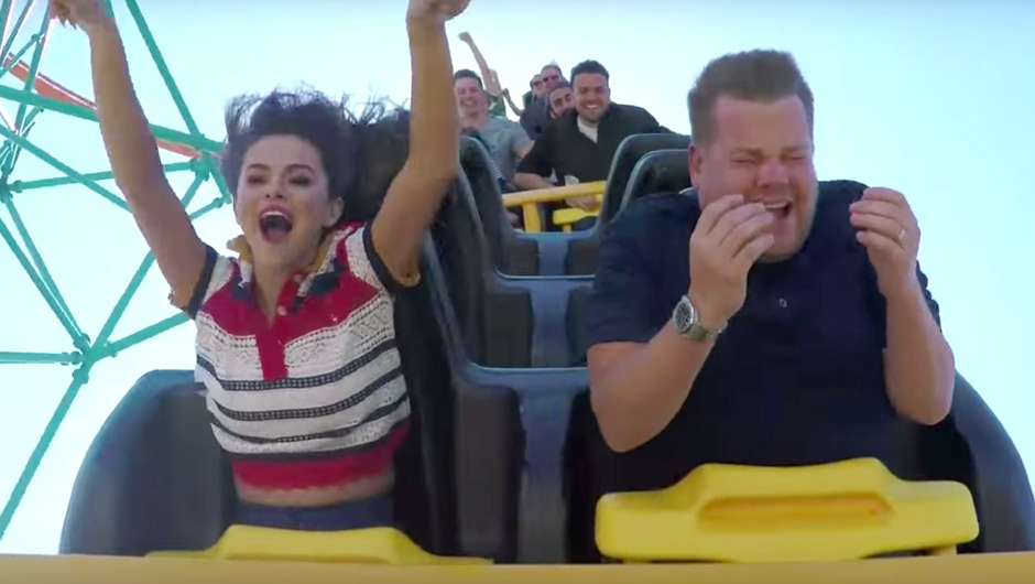 VIDEO: Selena Gomez Does Carpool Karaoke On A Roller Coaster