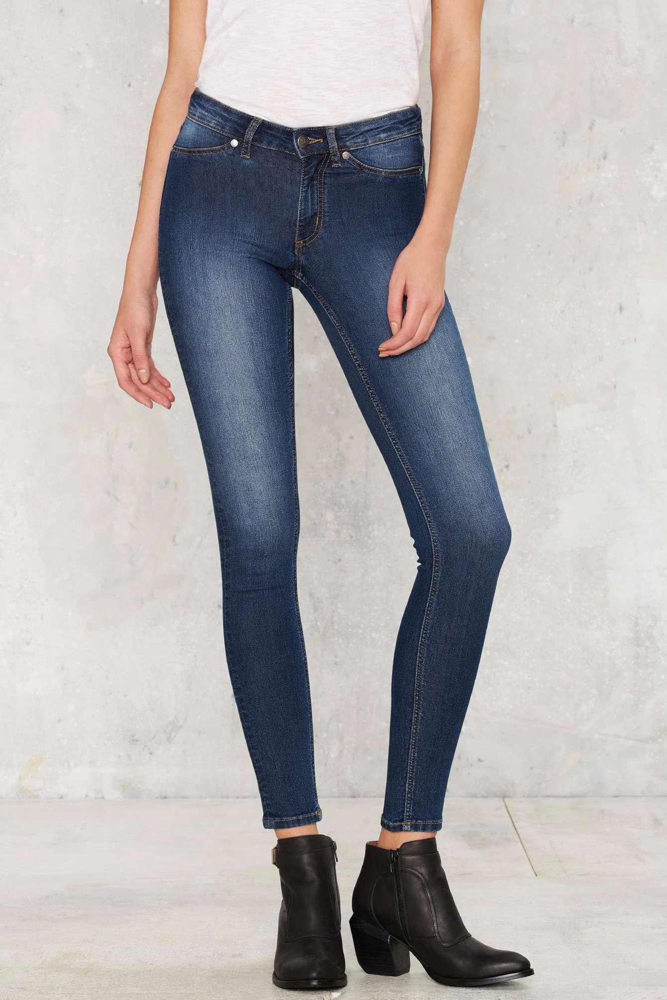 Mid Spray Skinny Jeans