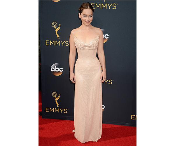 Emilia Clarke Emmy dress 2016