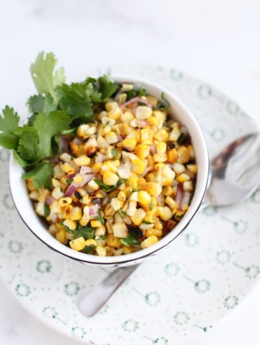 Cilantro and Lime Grilled Corn Salad