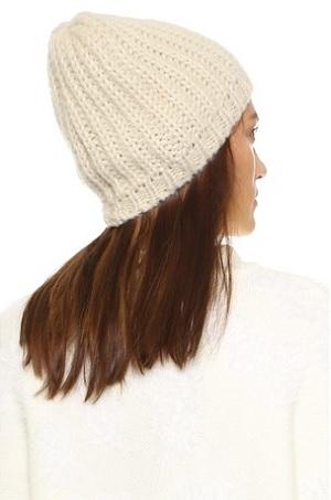 Olive Woven Rib Beanie Hat