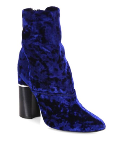 3.1 Phillip Lim Kyoto Stretch Velvet Block-Heel Booties