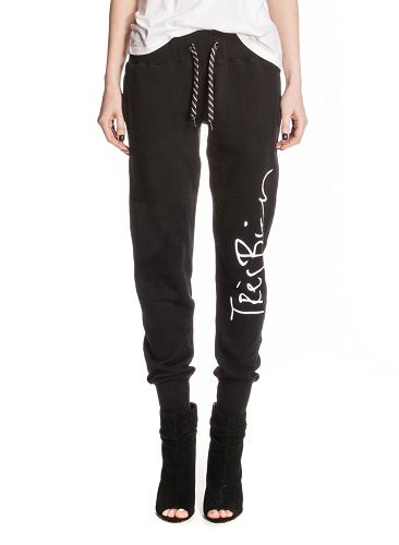 Black Tres Bien Print Sweatpants