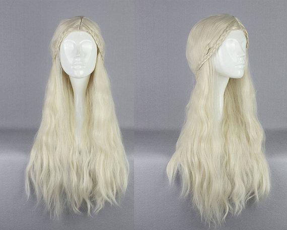 Wig Long Blonde Wavy