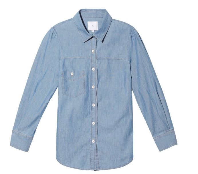 Goop Elise Chambray Button Down