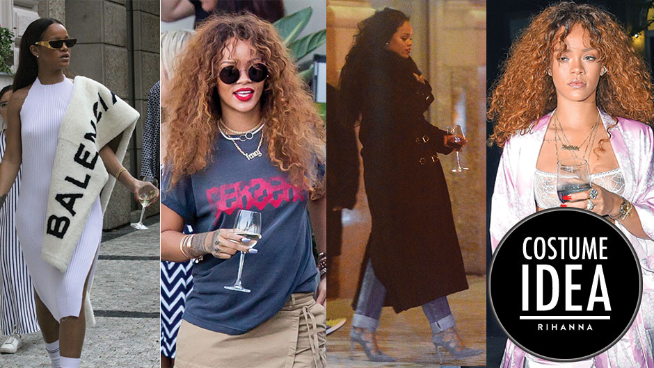 Rihannau0027s signature bathrobes chokers and burgundy lipstick arenu0027t the only reasons why dressing up as her for Halloween is so dang funu2013she has another ...  sc 1 st  SHEfinds & Rihanna Wine Glass Halloween Costume