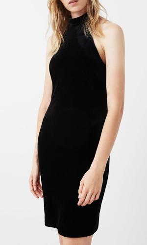 Halter velvet dress