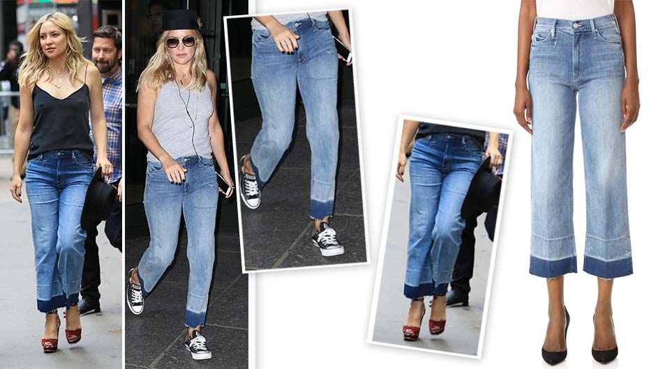 kate hudson mother cropped jeans