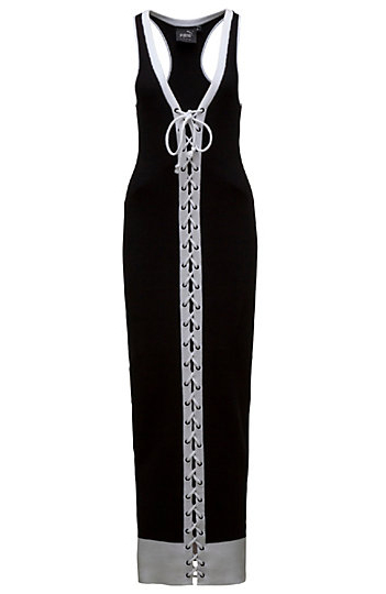 LACING RIB DRESS