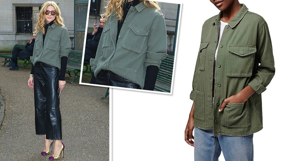Olivia Palermo military jacket from Topshop