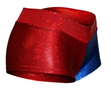 harley quinn Halloween Costume Red Blue sequin Hotpants