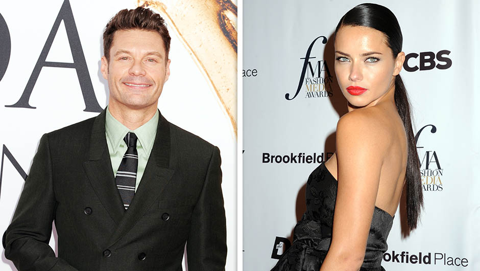 American Idol Host Ryan Seacrest And Victoria's Secret Angel Adriana Lima