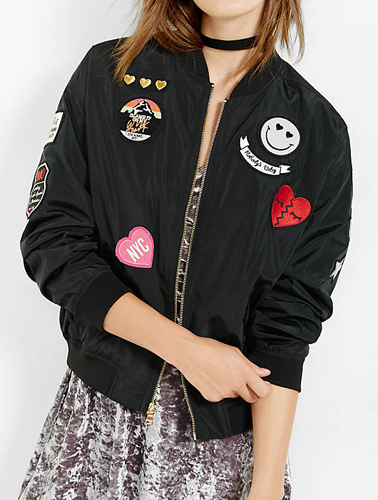 Bomber with Patches