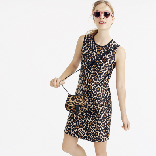 jcrew collection at nordstrom leopard dress