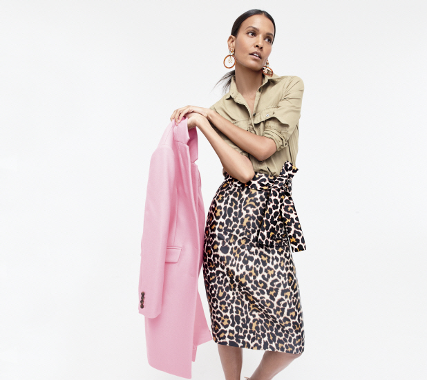 jcrew collection at nordstrom leopard skirt