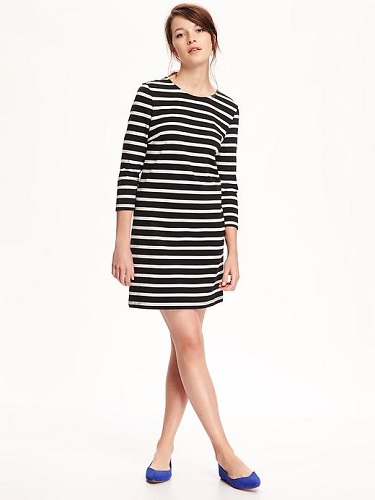 Heavy-Knit Shift Dress