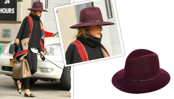 Olivia Palermo fedora hat