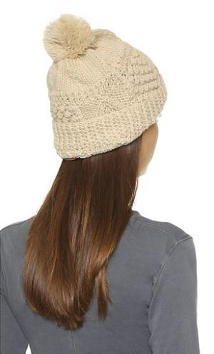 Olive Knit Pom Beanie Hat