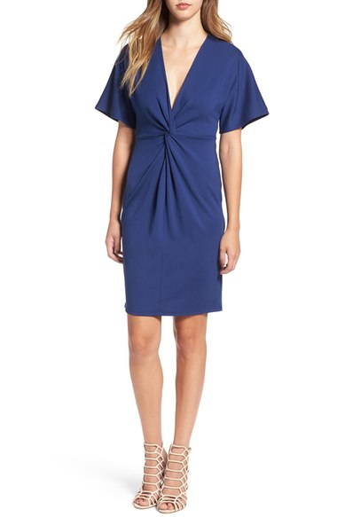 June & Hudson Front Knot Shift Dress