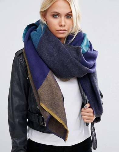 ASOS Oversized Square Scarf in Blown up Check
