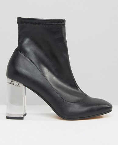 ASOS EAGLE Clear Heel Sock Boots