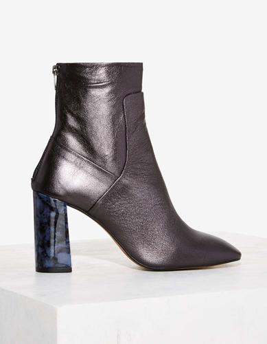 Crosswalk Preto Eclat Leather Boot