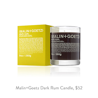 Malin Goetz Dark Rum Candle