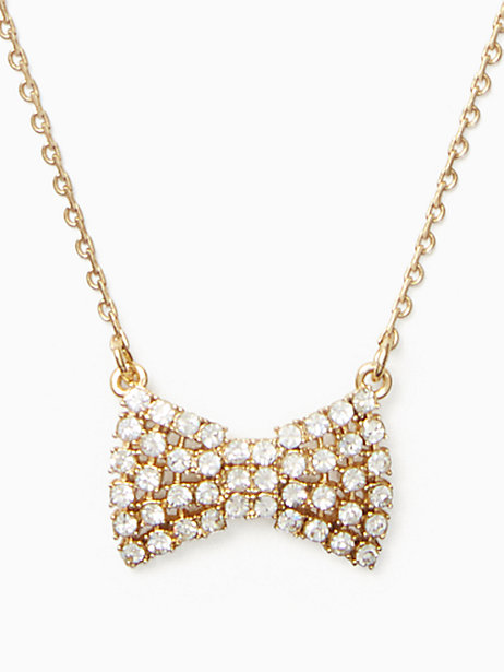 sparkling bow mini pendant