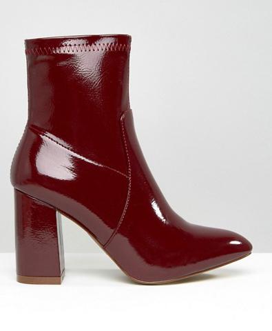 Public Desire Raya Sock Heeled Ankle Boots