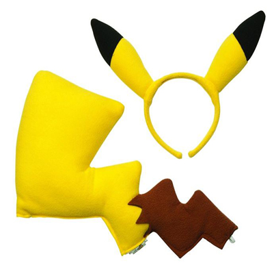Pikachu Halloween costume ears tail accessory set