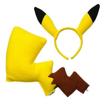 Pikachu Halloween costume ears tail accessory set