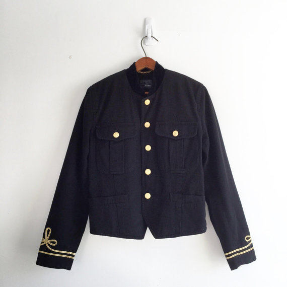 Vintage 80s cropped military jacket