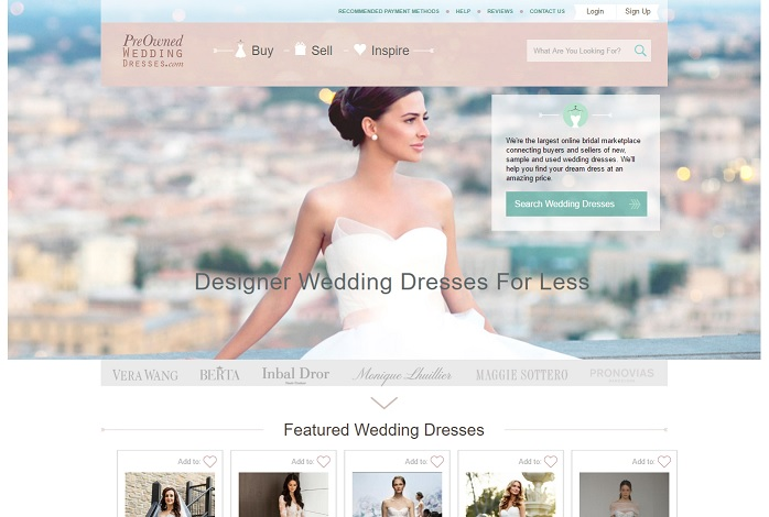 Best Sites To Buy PreOwned Wedding Dress