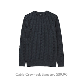 Uniqlo Cable Crewneck Sweater