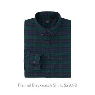 Uniqlo Flannel Blackwatch Shirt