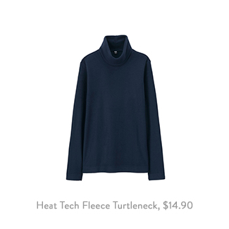 Uniqlo Heat Tech Fleece Turtleneck