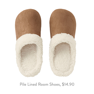 Uniqlo Pile Lined Room Shoes