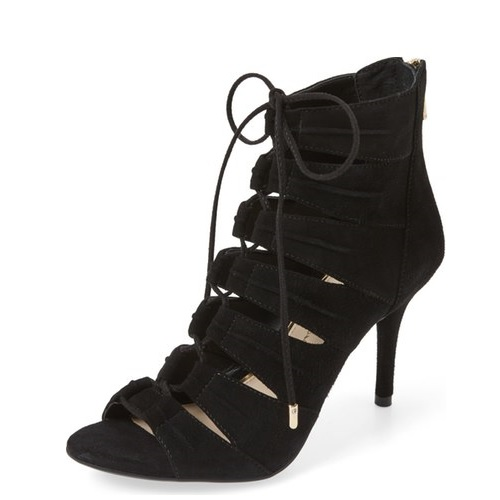 Black Lace Up Heels Cost