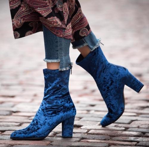 DSW Velvet Boots