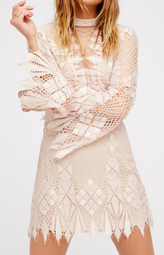 Deco Lace Mini Dress