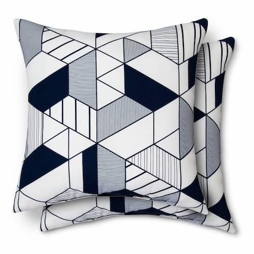 Geo Pillow Navy 2 pk