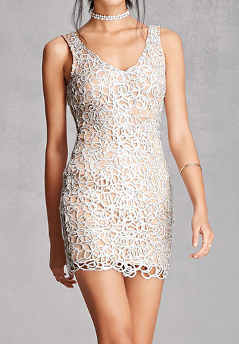 Glitter Cutout Bodycon Dress