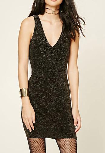 Glitter Knit Mini Dress