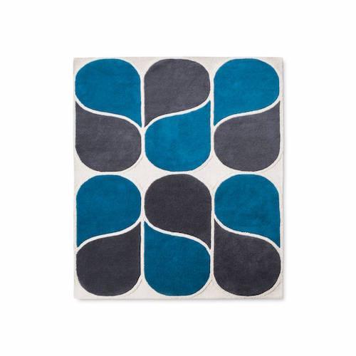 Hand Tufted Wool Rug 5'x7' Blue