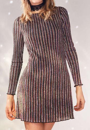 Kimchi Blue Melody Stripe Shimmer Mini Dress