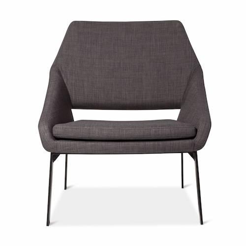 Lounge Chair Gray/Black